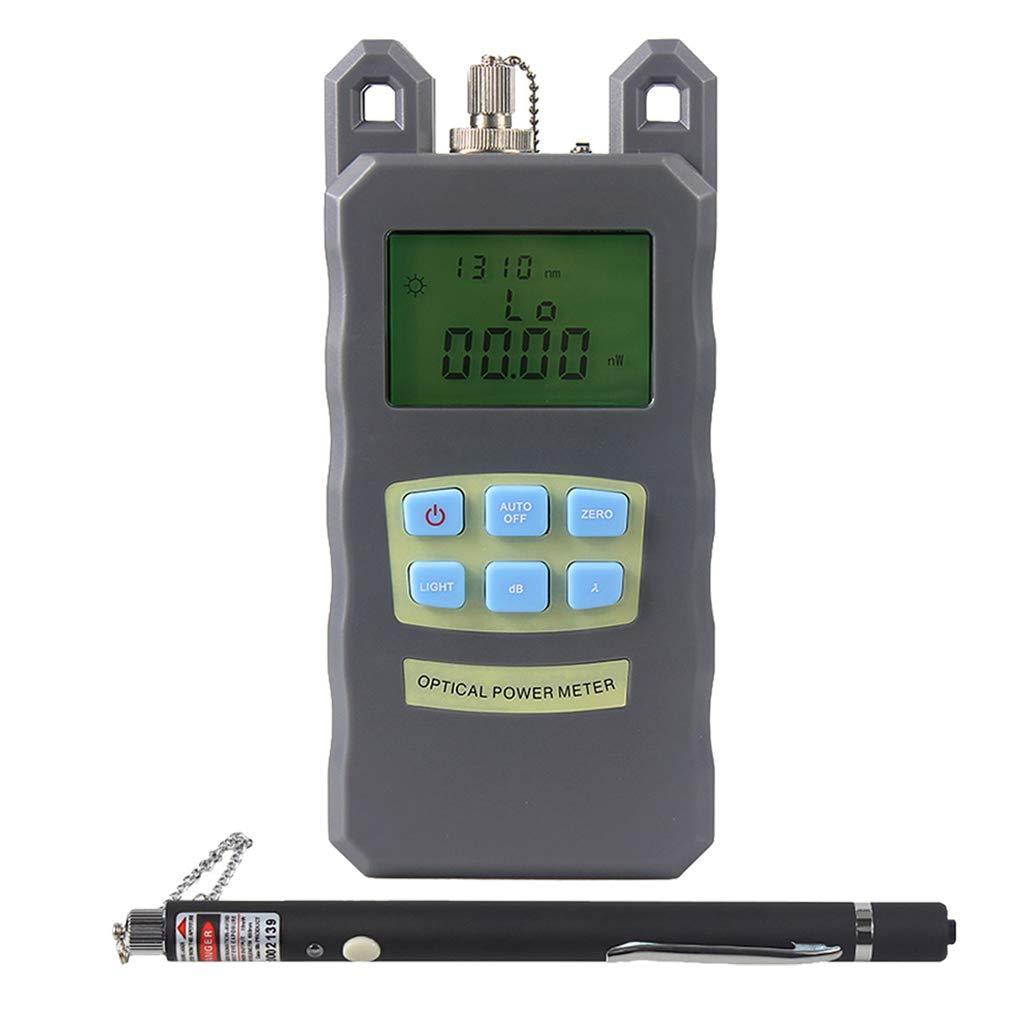 Prettyia 1Set Portable Optical Fiber Power Meter Tester Measure -70dBm~+10dBm + 10mW 10KM Visual Fault Locator Fiber Tester Detector Meter Pen by Prettyia (Image #6)