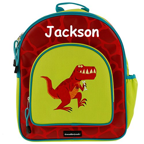 Crocodile Creek Personalized Kids T-Rex Dinosaur Backpack - 14 Inches