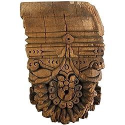 Hand Carved Vintage Wood Wall Sconce | Ornate Hanging Shelf Antique