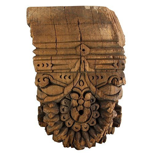Hand Carved Vintage Wood Wall Sconce | Ornate Hanging Shelf Antique ()