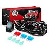 97 honda civic turbo kit - Nilight LED Light Bar Wiring Harness Kit 12V 5Pin Rocker Switch Laser On off Waterproof Switch Power Relay Blade Fuse-2 Lead,2 Years Warranty