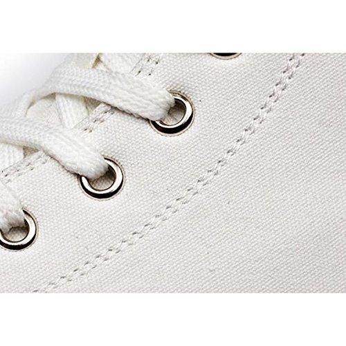 Pp Mode Koreaanse Stijl Vrouwen Verborgen Hak Platform Casual Canvas Schoenen Enkel Hoge Sneakers Wit