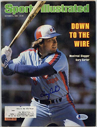 Gary Carter Signed Autographed SI 1980 Sports Illustrated Magazine Beckett BAS