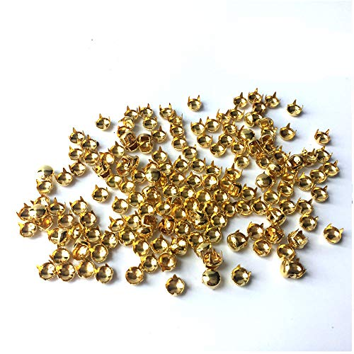HAWORTHS 200pcs 5MM ANTIQUE Gold Round Dome Metal Studs Spots Nailheads Fastners