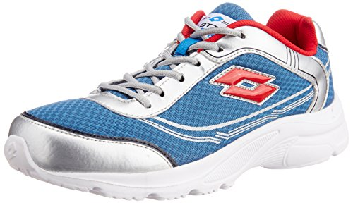 Lotto Men's Tremor Sea Blue and Silver Mesh Running Shoes - 7...