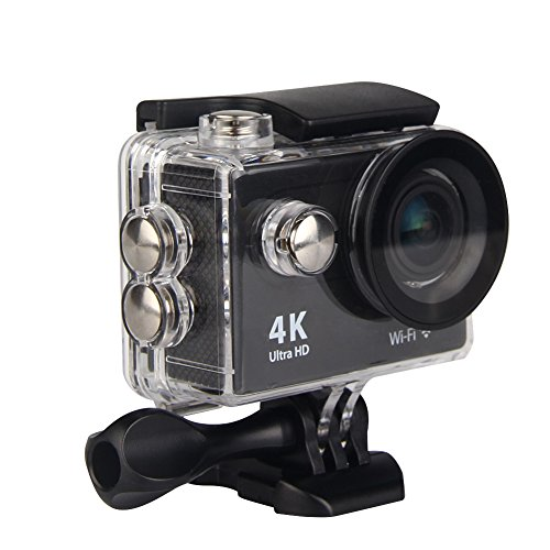 Premium Quality Action Cam 4K WiFi Ultra HD Waterproof Sport Camera 2 Inch LCD Screen 12MP 170 Degree Wide Angle Lens 2 Rechargeable 1050mAh Batteries, Includes 18 Accessories Kits Beacon Pet