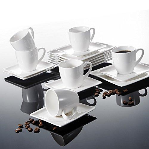 Malacasa, Series Monica, 18-Piece Ivory White Porcelain China Ceramic Cream Whit…