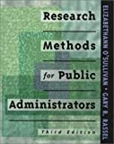 Research Methods for Public Administrators, Berner, Maureen, 0801318505