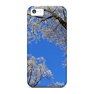 New Arrival Iphone 5c Case White Trees Against A Blue Sky Case Cover