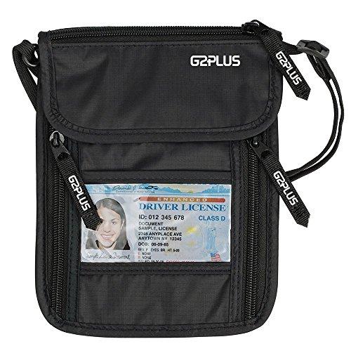 fc72ee2803 Collo della borsa porta passaporto di sicurezza Stashtravel RFID Blocking  denaro cintura nascosta in