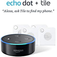 Tile Mate with Replaceable Battery (4-Pack)  + Echo Dot (2nd Gen)