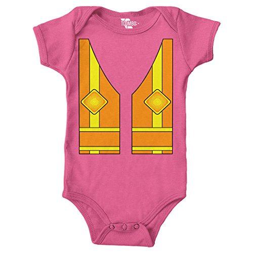 Tcombo Construction Costume Bodysuit (Pink, Newborn)