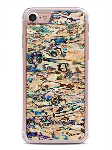 Seaside New Zealand Paua Shell by Carved - Apple iPhone 7 Shell Case - Clear Polycarbonate Hard Shell with Real All Shell Cover