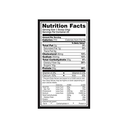 Optimum Nutrition Oats and Whey Protein Powder, Naturally Flavored Chocolate, 3 Pound