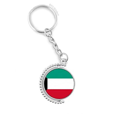 Amazon com: Kuwait National Flag Asia Country Rotatable Key