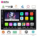 ATOTO A6 Android Car Navigation Stereo with Double Bluetooth & Phone Fast Charge - PRO A6Y2721PRB-G 2GB / 32GB 2DIN In dash Entertainment Multimedia Radio,WiFi,Gesture Operation, support 256G SD &more