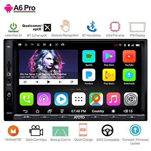 (ATOTO A6 Android Car Navigation Stereo with Double Bluetooth & Phone Fast Charge - PRO A6Y2721PRB-G 2GB / 32GB 2DIN In dash Entertainment Multimedia Radio,WiFi,Gesture Operation, support 256G SD)