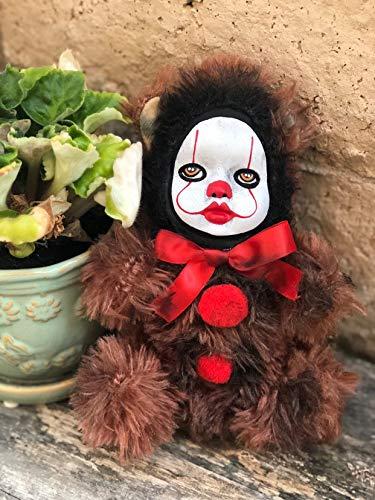 OOAK Pennywise IT Clown Teddy Bear #2 Creepy Horror Doll Art Christie Creepydolls from Christie Creepy Dolls