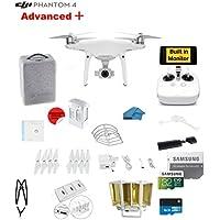 DJI Phantom 4 ADVANCED Plus Quadcopter Drone with 1-inch 20MP 4K Camera KIT + 32GB Micro SDXC Card + Universal Card Reader 3.0 + Prop Guards + Charging Hub + Range Extender + Harness