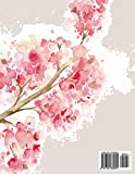 Notebook: Cherry blossom on grey cover and Dot