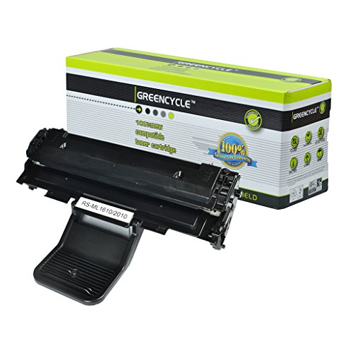 GREENCYCLE 1 Pack ML2010 ML-2010 Black Toner Cartridge Compatible For Samsung ML-1610R ML-1615 Laser Printer