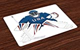 Sports Place Mats Set of 4 by
