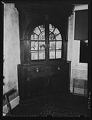 Lancaster County, Pennsylvania. The china cabinet in the dining room of the house on the Enos Royer farm
