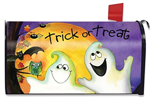 Briarwood Lane Trick or Treat Ghouls Halloween Mailbox Cover Ghosts Standard by Briarwood Lane