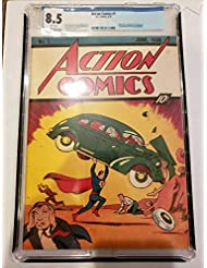 ACTION COMICS #1 JUNE 1938 Custom GRADED 8.5 REPRINT SUPERMAN 1ST APPEARANCE