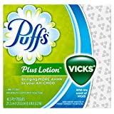 Puffs Plus Lotion With The Scent Of Vicks Facial Tissues, 24 Cube Boxes (48 Tissues per Box)