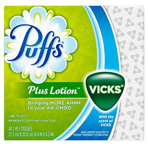 Puffs Plus Lotion With The Scent of Vicks Facial Tissues (1 Pack, 48 Count Each)