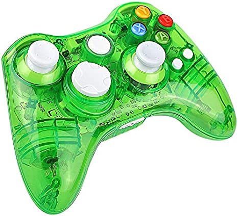 Molyhood Mando Xbox 360 inalámbrico para Microsoft Xbox 360 Console PC con Windows, PC controlador GamePad transparente con 8 LED Luces: Amazon.es: Informática