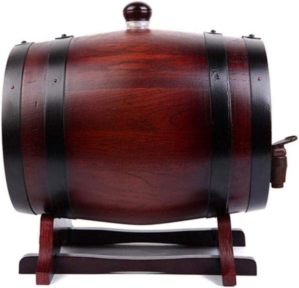 DPPAN 酒保存容器 ワイン樽 木 ワイン貯蔵 1.5L用木製樽 保管 ウイスキー ビール バーボン テキーラ ラム酒 酢 スピリッツ,B