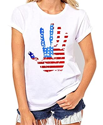 DUTUT Merica Lincoln T Shirt Women's 4th of July American Flag Clothes Summer Short Sleeve Tops Blouse