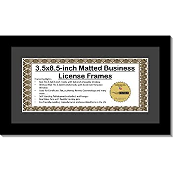 Amazoncom Business First Dollar Frame Black Wood