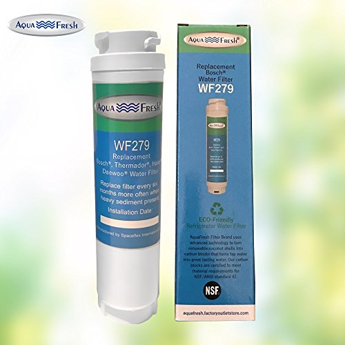 Aquafresh WF279 Replacement for Bosch 644845 Ultra Clarity, Haier 0060820860, Miele KWF1000 Refrigerator Water Filter (6 Pack) by Aqua Fresh (Image #1)