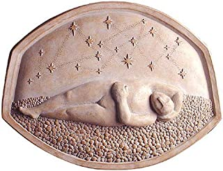 """product image for 'The Dreamer' American Made Cast Stone Garden Wall Art Plaque, 15.5"""" x 11.75"""""""