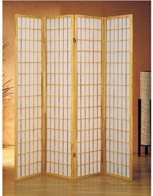 4 panel natural room divider shoji screen