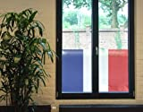 Window Mural French Flag window sticker window film window tattoo glass sticker window art window décor window decoration Dimensions: 56.7 x 94.5 inches
