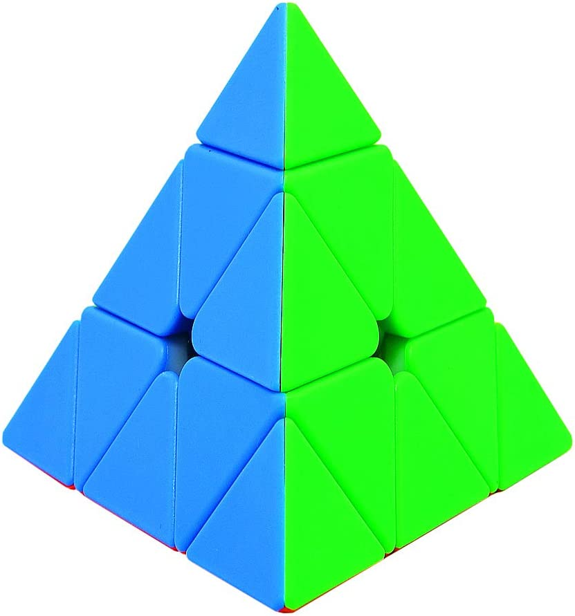 TOYESS Cubo de Pyraminx Stickerless 3x3x3, Piramide 3x3 Cubo de Velocidad Rompecabezas para Niño & Adultos