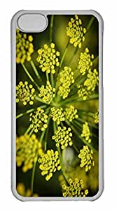 iPhone 5C Case, Personalized Custom Yellow Houses for iPhone 5C PC Clear Case