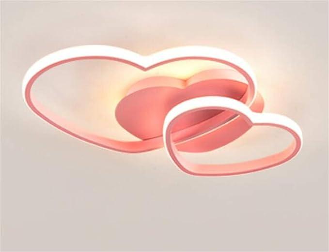 Kinderlampe Herzförmige Mädchen Herz Ring Zweiflammig