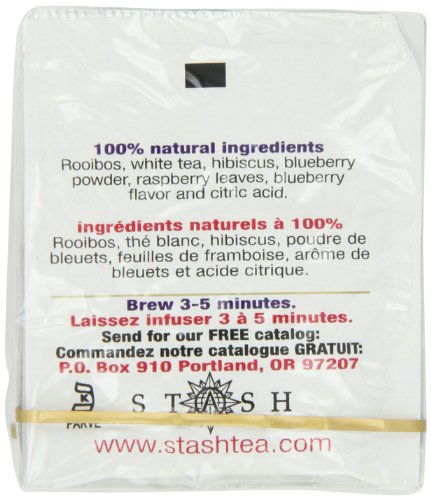 Stash Tea Fusion Red White & Blueberry Tea 10 Count Tea Bags in Foil (Pack of 12) (Packaging May Vary) Individual Tea Bags for Use in Teapots Mugs or Cups, Rooibos and White Tea, Brew Hot or Iced by Stash Tea (Image #5)