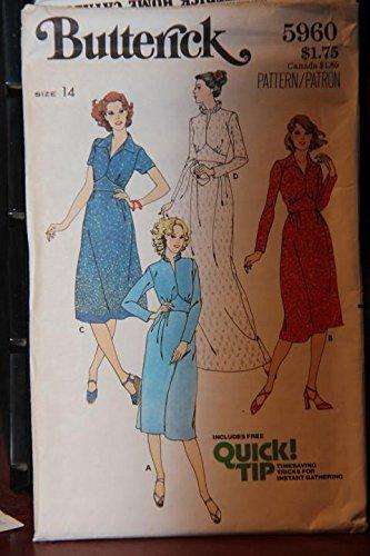 (Vintage Butterick Pattern 5960 Size 14 - Misses' Dress - (uncut pattern))