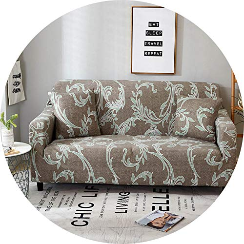 Jade clear Floral Printing Sofa Cover Spandex Stretch Slipcovers Sofa Cover Removable Elastic All-Inclusive Couch for Living Room 1 PC,Color 23,3seater 190-230cm ()