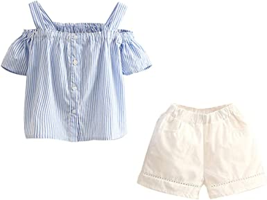 Mud Kingdom Little Girls Outfits Lace Cute Summer Holiday