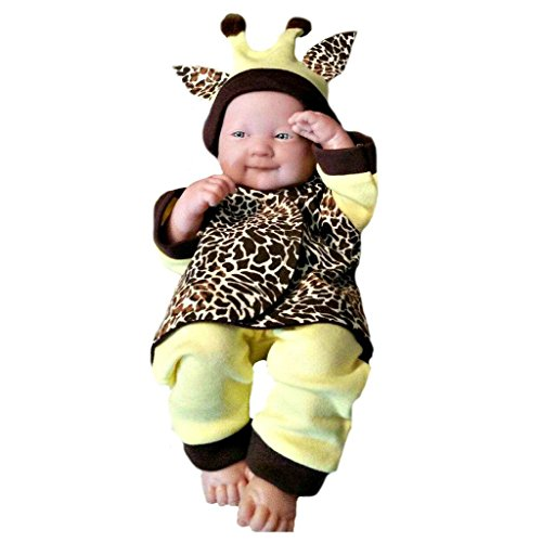 Costumes Preemie (Jacqui's Unisex Baby Giraffe Costume Clothing Set,)