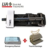 Tourniquet Combat Action Trauma Kit - Lia Medical Gen 4 Metal Windlass Military Army Tactical Swat Application The Best Life Saving First Aid Bleeding Control W Emergency Bandage and a Mylar Blanket