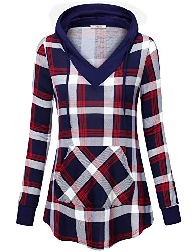 - Bebonnie Pullover Hoodies Women Misses Petite Flowy V Neck Going Out T Shirt Work Knit Cute Long Sleeve Tunic Sweatshirt A-Line Unisex Casual Designer Hoodie Knit Women Red Blue M