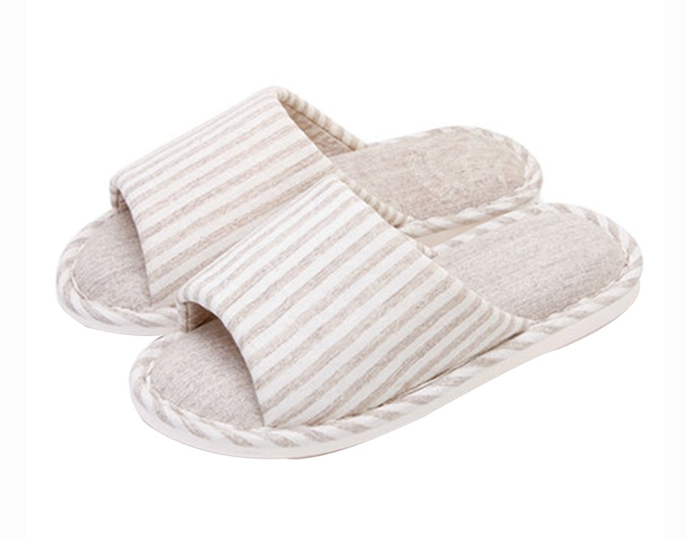 (Made By Cotton)Skidproof The Simple Style Of Home Slippers(Cream-colored) Blancho Bedding